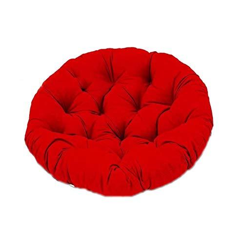 Almohada Colgante para, Silla Mecedora con Correa Fija Suave, Acolchado de algodón a Menudo para Colgar Forma de Hamaca marrón,Rojo