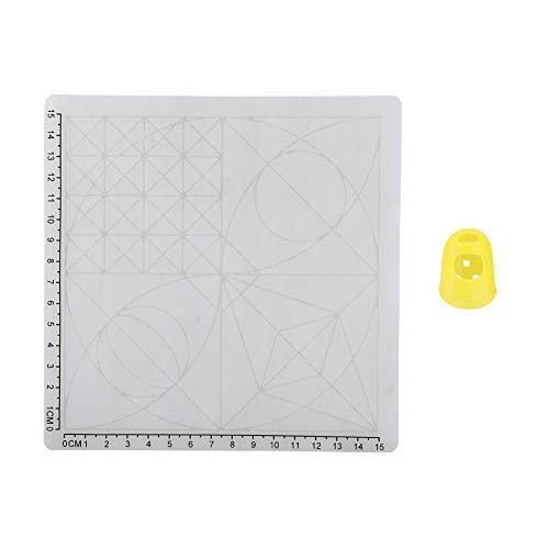 3D-printpen siliconen sjabloon Basic multi-vormige sjabloon, 3D-printen siliconen tapijt met hittebestendige vingerkap (C), basissjabloon 3D-objecten maken
