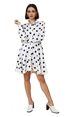UNIQUE21 Vrouwen Luxe Satijn Shirt Jurk - Dames Casual Werk Office Lange Mouw Blouse Mini Jurk