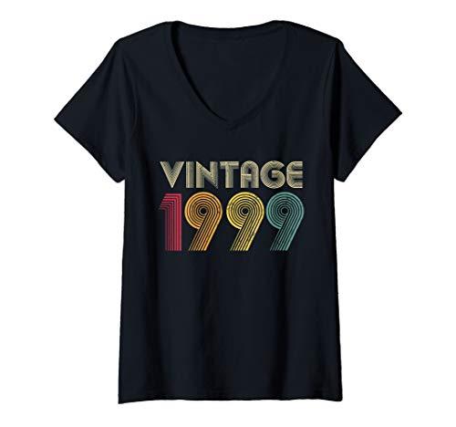 Womens 21st Birthday Gift Vintage 1999 Classic Men Women 21 Years V-Neck T-Shirt