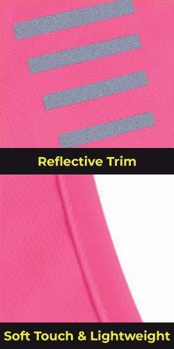 Proviz Classic Hi Viz Reflective Women's Running Singlet Vest Sleeveless Top Hi Visibility (10, Pink)