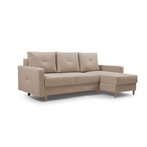 Canapé d'angle Orange Tissu Design Confort