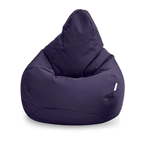 Loft 25 Bean Bag Gamer Chair | Outdoor Indoor Living Room BeanBag Seat | Water Resistant | Ergonomic Design for Body Support | Durable & Comfortable (Bean Bag, Purple)