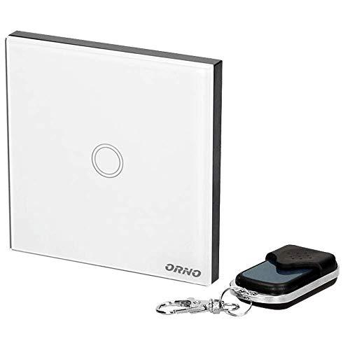 ORNO GB-442 Kristallglas Funk Lichtschalter mit Fernbedienung,Led Kompatibel, Max. Last: 300W
