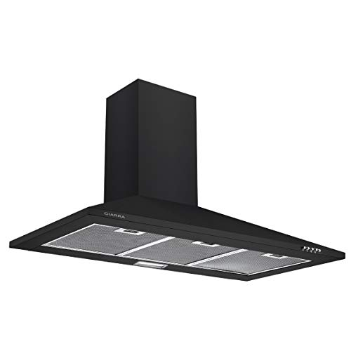 CIARRA CBCB9201 90cm Black Chimney Cooker Hood 900mm Range...