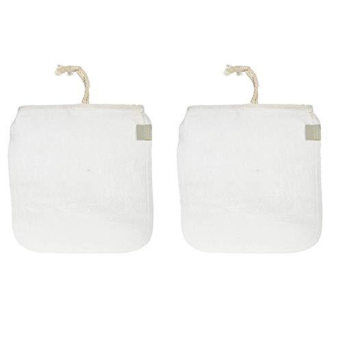 Mopoin IWILCS - Bolsas para leche de frutos secos, 2 unidades, cáñamo, paño filtrante, para la producción de leche de almendras, leche de avena, zumo de apio, diferentes bebidas