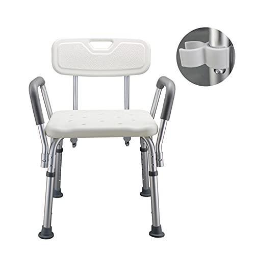 AWS025 Badezimmer-Sicherheit Anti-Slip-Duschstuhl für ältere Schwangere Behindertenbad Duschbank Verstellbare Höhe Duschwannenhocker (Color : Shower Bench)
