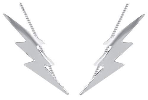 Pendientes Plata de Ley 925 Trepador Triple Rayo