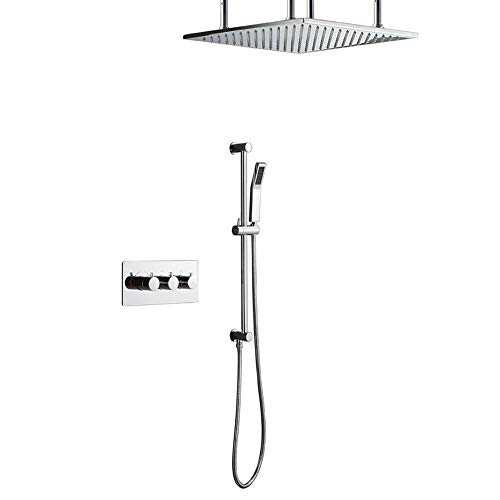 Best Bargain Zhengtufuzhuang Canopy Shower Top Spray Concealed Shower Full Copper Boxed Valve Body w...