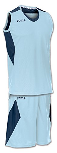 Joma Space Set Completo de Basket, Hombres, Celeste-Marino-353, S