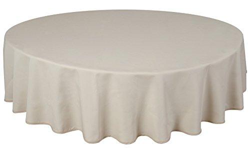Home Direct Qualitäts Tischdecke Textil Rund 180 cm, Farbe wählbar Elfenbein Crème