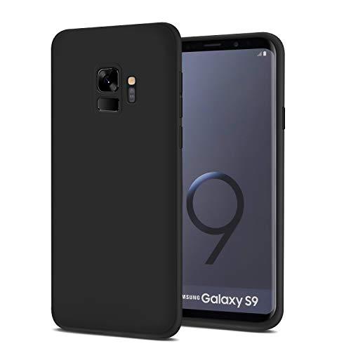 Whew Hülle Kompatibel Samsung Galaxy S9, Matt Schwarz Ultra Dünn Flexibel Silikon Case Premium TPU Schutzhülle, Anti-Fingerabdruck & Anti-Kratzer Anti-Dropping Handyhüllen Kompatibel Galaxy S9