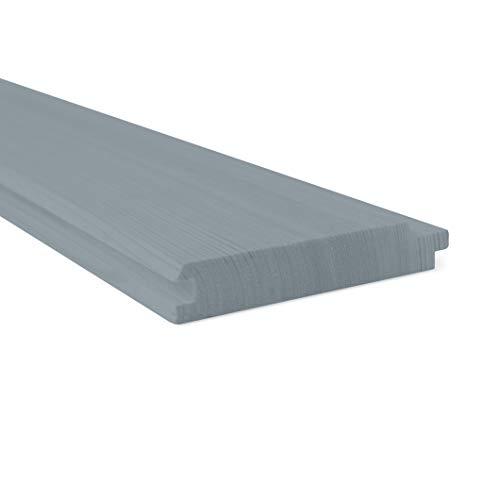 Holtaz - Fassadentafel - 9,6m2 Verkleidung, Schalung BOAZERIA - Kiefernholz natur, Bretter 2400x116x20 mm Kiefer