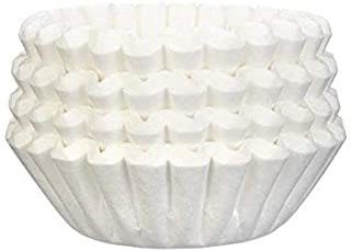 Tupkee Coffee Filters 4-6 Cups, Junior Basket Style, White Paper, Chlorine Free Coffee Filter, 400 Count