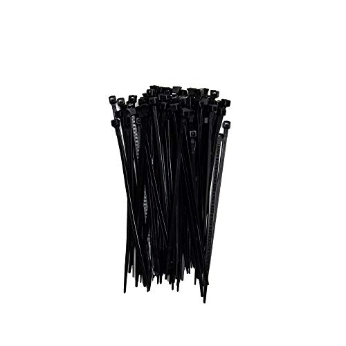 ZipTie.com 4-inch Black Fuel Hose Cable Tie, 20-lb Tensile Strength, 100-Pack