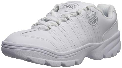 K-Swiss Men's ALTEZO Sneaker, White/Silver, 11 M US