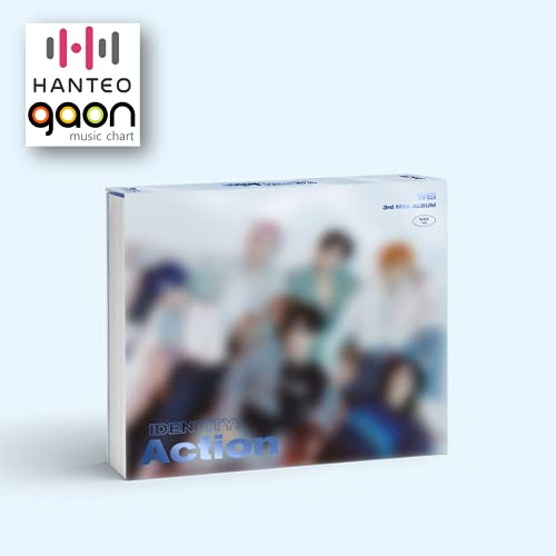 WEi - Identity : Action [Wave ver.] (3rd Mini Album) [Pre Order] CD+Photobook+Folded Poster+Others with Tracking, Extra Decorative Stickers, Photocards