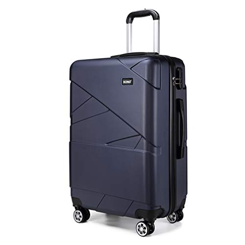 Kono 20 Inch Cabin Luggage Super Lightweight PC Hard Shell Trolley Travel Case with 4 Wheels Carry-on Suitcase (20', Navy)
