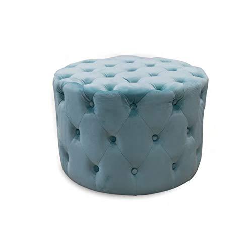 takestop® zitzak van stof, fluweel, Tiffany, kruk met voeten, 60 x 30 x 42 cm, eenkleurig, kunstleer, modern design, woonkamer