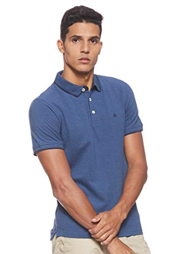 JACK & JONES Herren Jjepaulos Noos Poloshirt, Blau (True Navy Detail: Slim Fit), XL EU