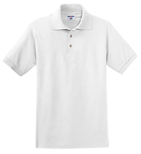 Jerzees - Polo - avec Boutons - Homme - Blanc - Large