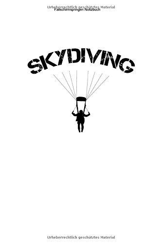 Fallschirmspringen Notizbuch: 100 Seiten | Kariert | Geschenk Adrenalin Ausbildung Verein Skydive Tandem Sprung Springen Springer Team Fallschirmsport