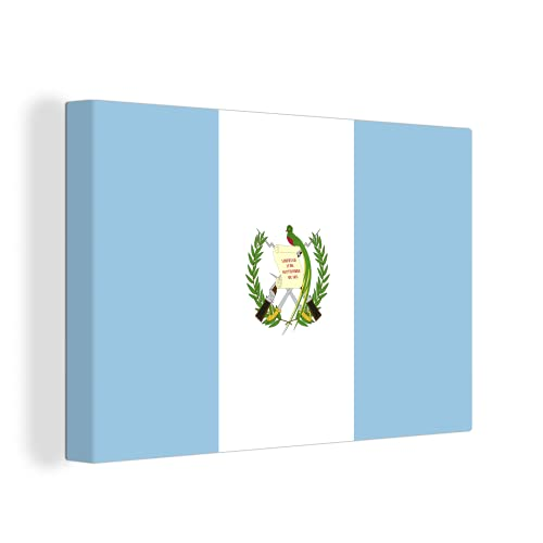 Leinwandbild - Flagge Guatemala - 150x100 cm