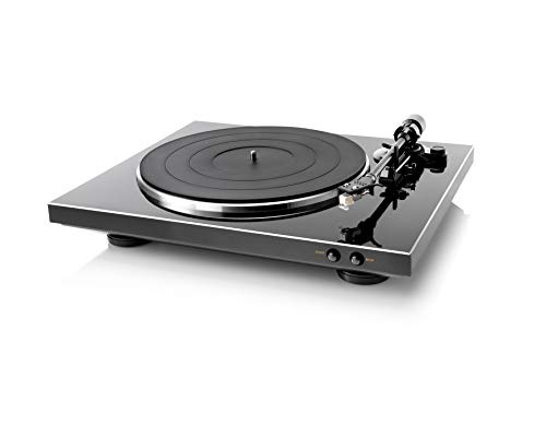 Denon DP-300F Fully Automatic Analog Turntable with Built-in Phono Equalizer | Unique Tonearm Design | Hologram Vibration Analysis | Slim Design