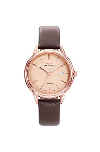 Sandoz - Reloj Acero IP Rosa Correa Sra Heritage Sa - 81354-97