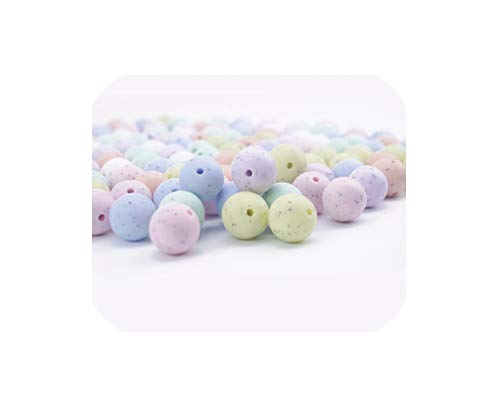 Review Baby Round Beads 200Pcs 15Mm Silicone Sesame Candy Colors DIY Accessories Beads,as Show
