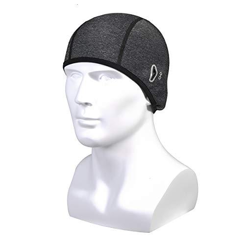 FAMKIT Unisex Helm Liner mit Brille Loch Winter Beanie Mütze Laufen Radfahren Schädel Hut passt unter Helme (für Herren)