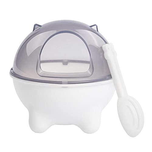ZNYLX Bañera De Arena Hamster Baño De Hámster Inodoro De Plástico para Heces De Animales Pequeños con Cuchara De Arena para Mascotas para Conejillo De Indias Hurón Caja De Baño De Arena Blanca