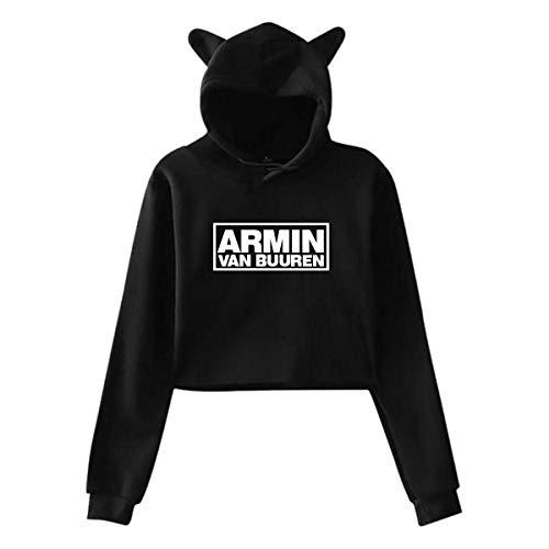 Armin Van Buuren - Sudadera con capucha de manga larga para mujer, diseño de orejas de gato