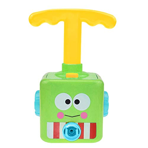 Mingbai Inertial Power Balloon Car, Power Balloon Car Toy, Balloon Powered Car Children's Science Toy, Preschool Educational Science Experiment Toy, Puzzle Fun Toys Gift(Yellow/Green/Black) (Green)