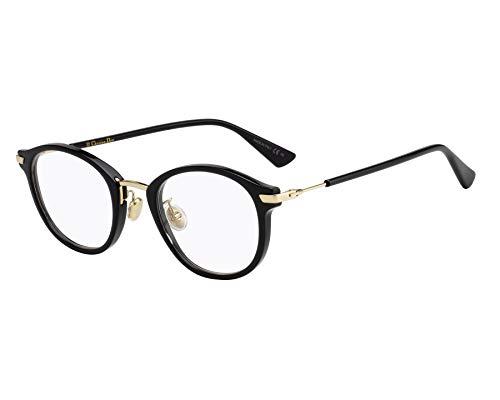 Christian Dior Brille (Dioressence21F 807) Acetate Kunststoff - Metall schwarz glänzend - gold