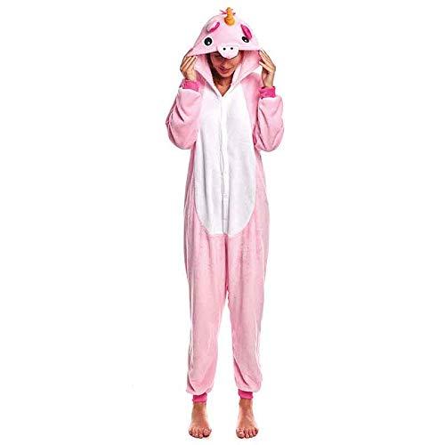 Pijamas Enteros de Animales Adultos Unisex (Tallas de Adultos S a L) Disfraz Unicornio Mujer Pink Mono Enterizo Adulto Carnaval Fiestas【Talla S】