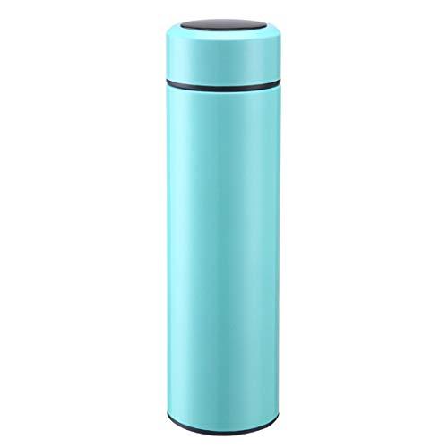 KDXBCAYKI - Taza de agua portátil para exteriores con filtro de acero inoxidable para mantener las bebidas calientes y frías, botella de agua aislada al vacío de acero inoxidable, color Verde, tamaño 400 ml, 800.00