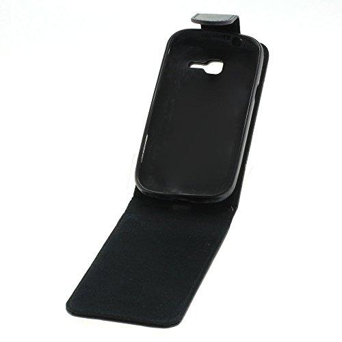 Mobilfunk Krause - Flip Case Etui Handytasche Tasche Hülle für Samsung GT-S7390 / S7390 (Schwarz)