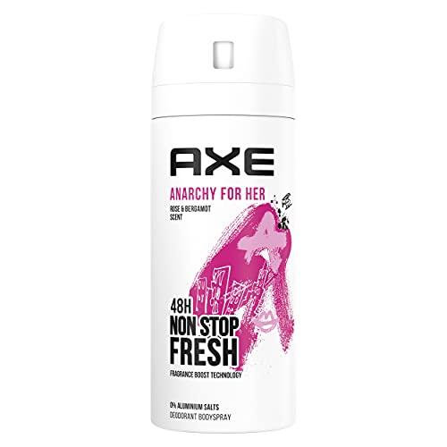 AXE Spray corporel Anarchy for Her pour une féminité pure Déodorant sans aluminium 150 ml, pack de 1, l'emballage peut différer