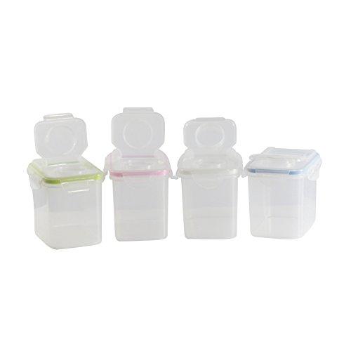 Boîtes à céréales très hermétiques, couleurs assorties, 3 grandes boîtes ou 4 boîtes de taille moyenne (Moyen X4)