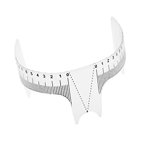 CUTICATE Nouveau Verison Eyebriner Eyeliner Toilettage Stencil Shaper Règle Mesurer Kit
