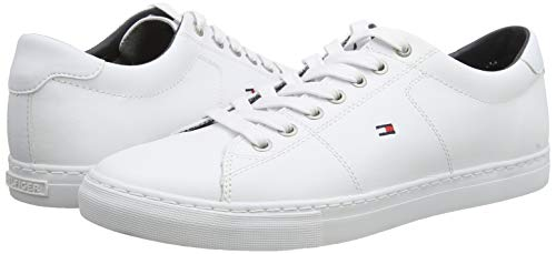 Tommy Hilfiger, Zapatillas Hombre, Blanco (White 100), 42 EU