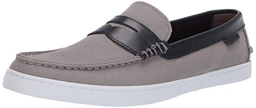 Cole Haan Men's Nantucket Loafer, Gray Canvas/Blue Leather, 8