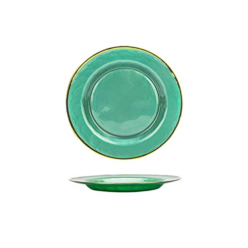 Platos llanos Moderno ama de casa de estilo europeo Phnom Penh Placa de cristal placa creativa placa de comida occidental placa de pastel de ensalada Platos para servir de porcelana de cocina