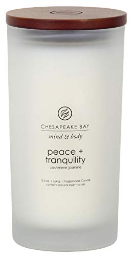 Chesapeake Bay Candle Scented Candle, Peace + Tranquility (Cashmere Jasmine), Large
