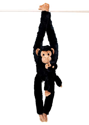 32-Inch Hanging Monkey Stuffed Animal With Baby - Monkey Toy with Specially Designed Ultra Soft Plush Feel - Hands and Feet Connect Together - Bring These Popular Monkeys Home to Boys & Girls Ages 3+