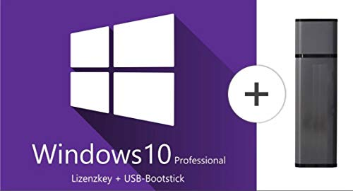Windows 10 Professional 64 Bit USB-Stick - 1 Lizenz - Deutsch - Betriebssystem Windows 10 Vollversion