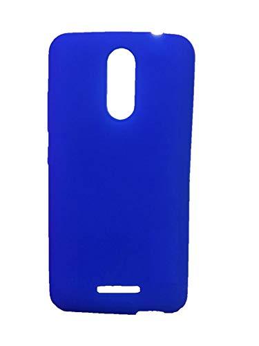 METOO Transparent Soft Silicon Flexible Mobile Back Cover for Xolo Era 2X, Print : (Blue)
