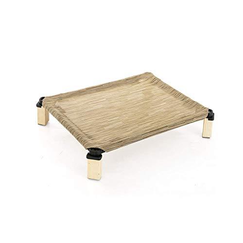 QHYY polyester mesh stof + stalen frame huisdier-nest comfortabel en ademend hondenbed voor deuren buiten picknick