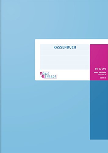König & Ebhardt 8610201 Geschäftsbuch / Kassenbuch (A4, Einnahmen/Ausgaben, 80g/m², 40 Blatt Drahtheftung)